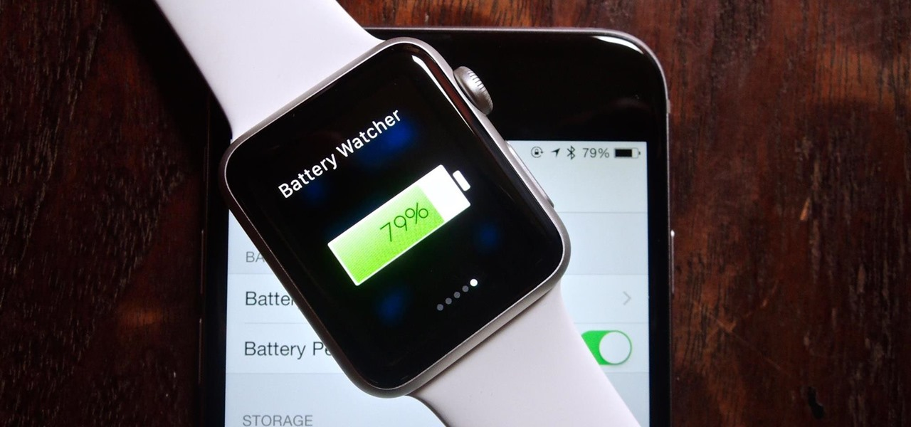 Check Your iPhone's Battery Life from Your Apple Watch