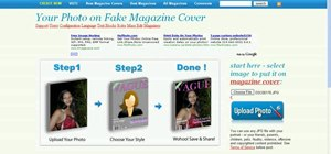 Create a fake magazine cover on the web