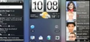 Customize the home screen on an HTC Desire HD smartphone
