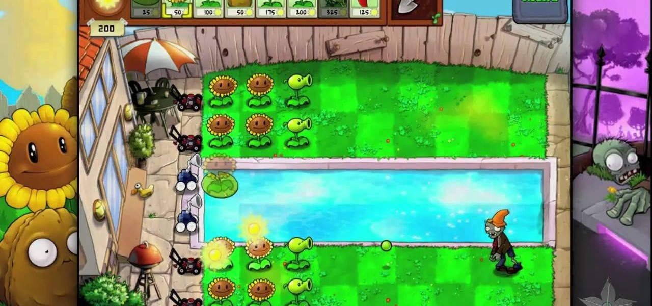 how to beat level 36 of plants vs zombies hd for the ipad