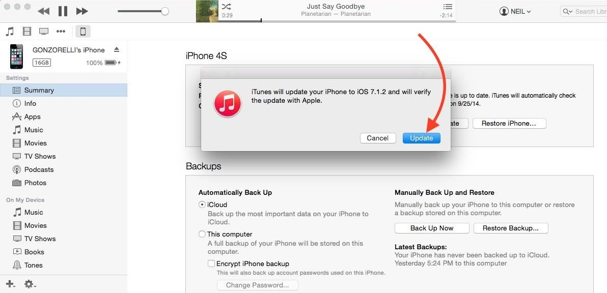 How to Downgrade an iPhone to iOS 7 1 2 from iOS 8 « iOS