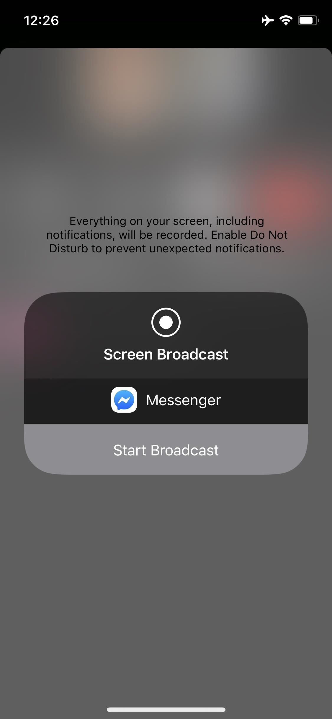 How to share your phone screen with friends in Facebook Messenger video chats
