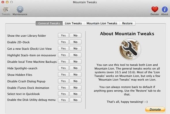 How to Access Hidden Mac OS X Settings in Lion and Mountain Lion Without Using Terminal