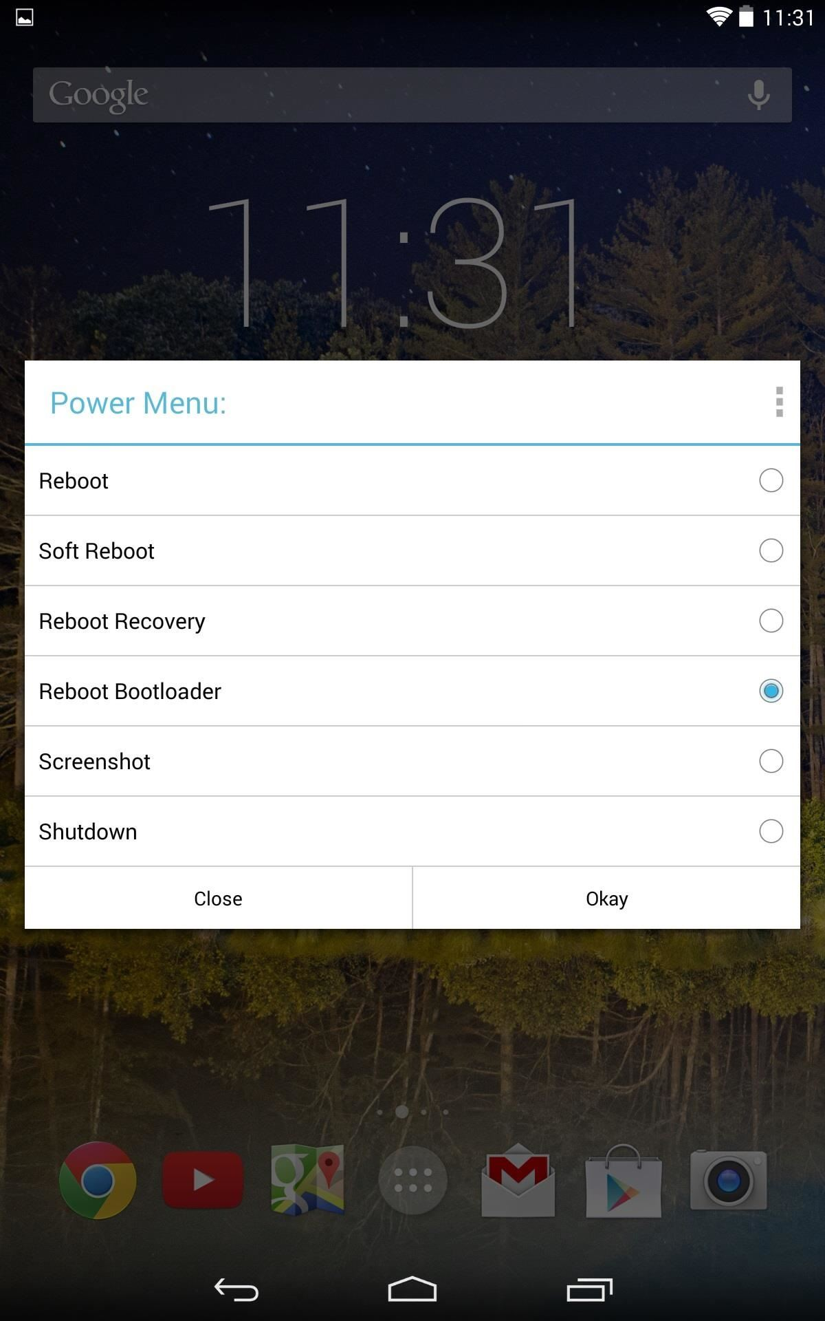 How to Add a Power Menu to Your Nexus 7 to Reboot into Fastboot or Recovery Mode More Easily