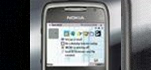 Use the Nokia E71 cell phone