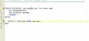 Create a stored procedure in MySQL with DreamCoder