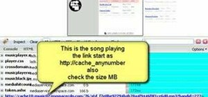 Save music from MySpace as MP3s