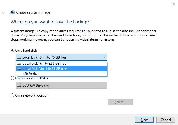 How to Make a Full System Image Backup on Windows 10 « Windows Tips