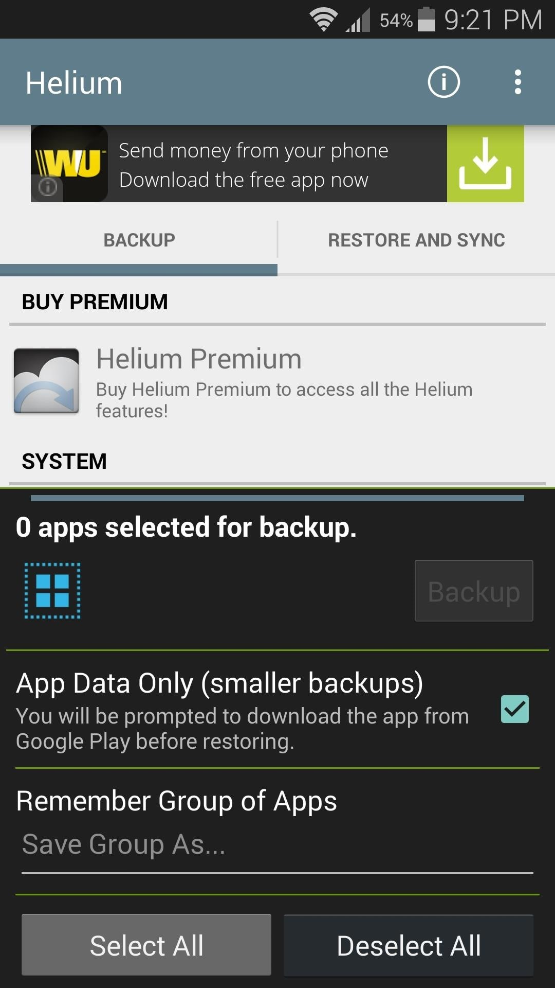 helium app sync and backup premium