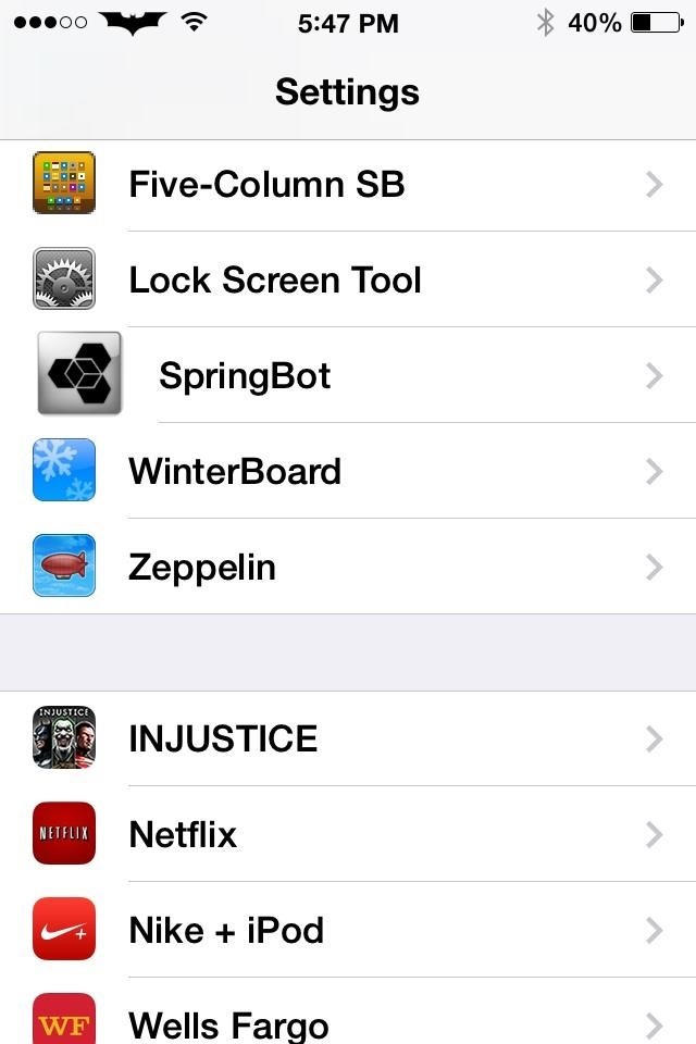 How to Add a 5th Column of Apps to Your iPhone's Home Screen in iOS 7