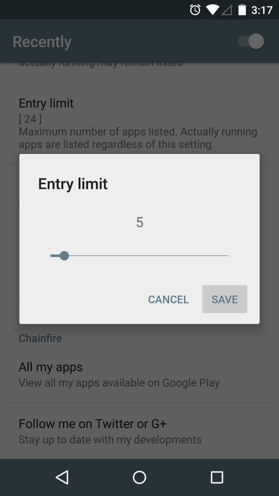 How to Trim Down Android Lollipop's Overview Screen