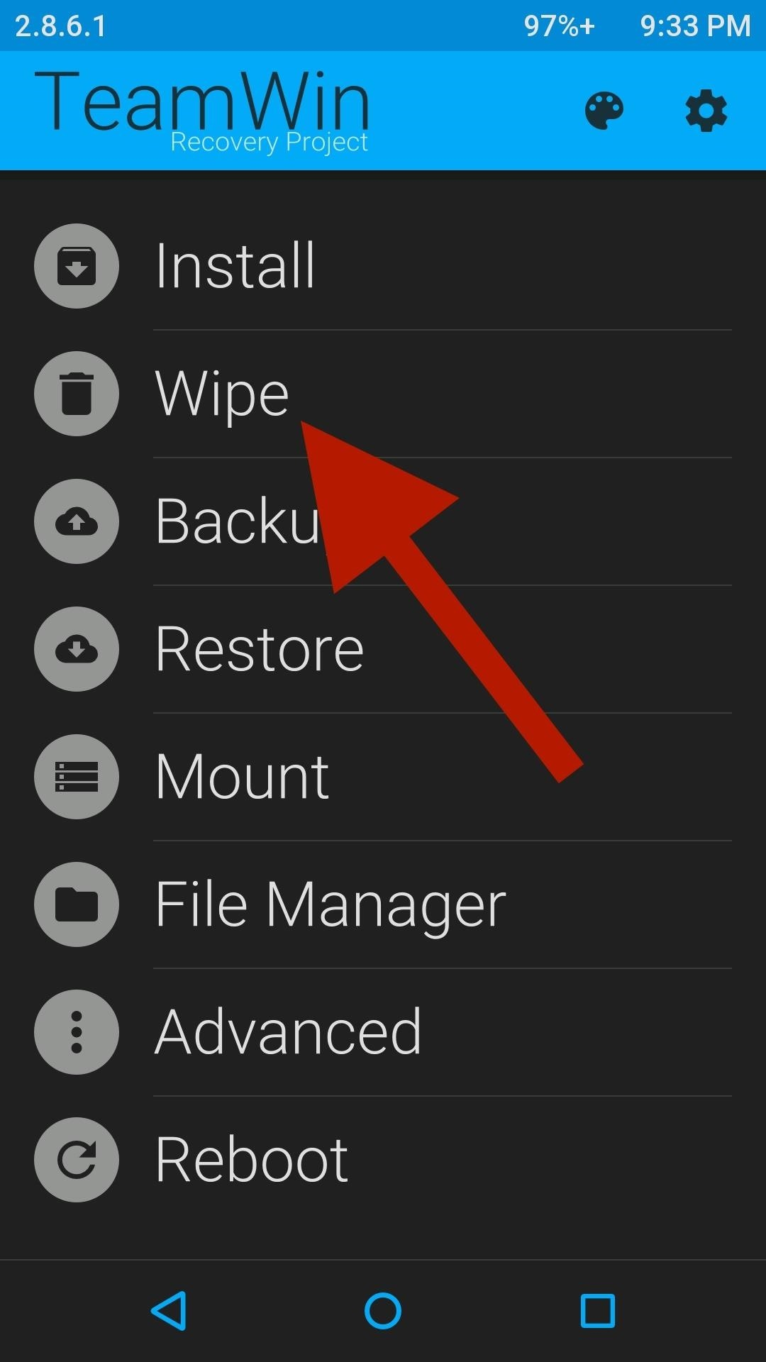 Восстановить Android c резервной копии через TWRP рекавери