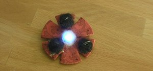 Embed lights into a colorful brooch with LilyPad