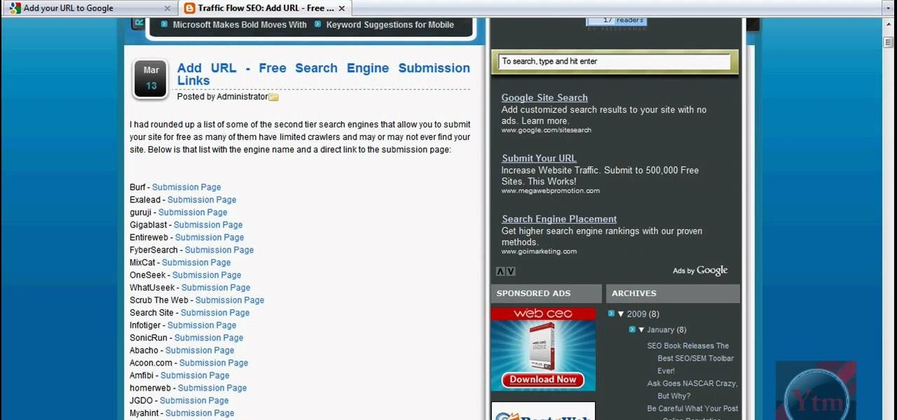 How To Submit Your WebSite To Google Search Engines- Your ...