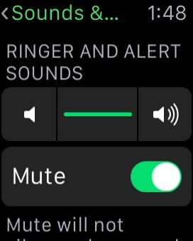 turn off ringtone on apple watch