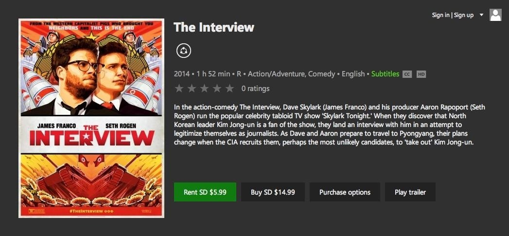 "How to Watch Sony's ""The Interview"" Right Now (Update: Now on Netflix)"