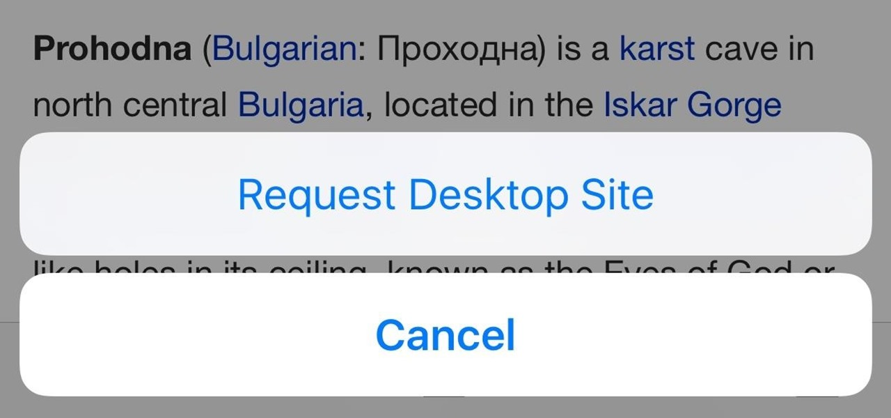 Request Desktop Sites in iOS 9's Safari for iPad & iPhone