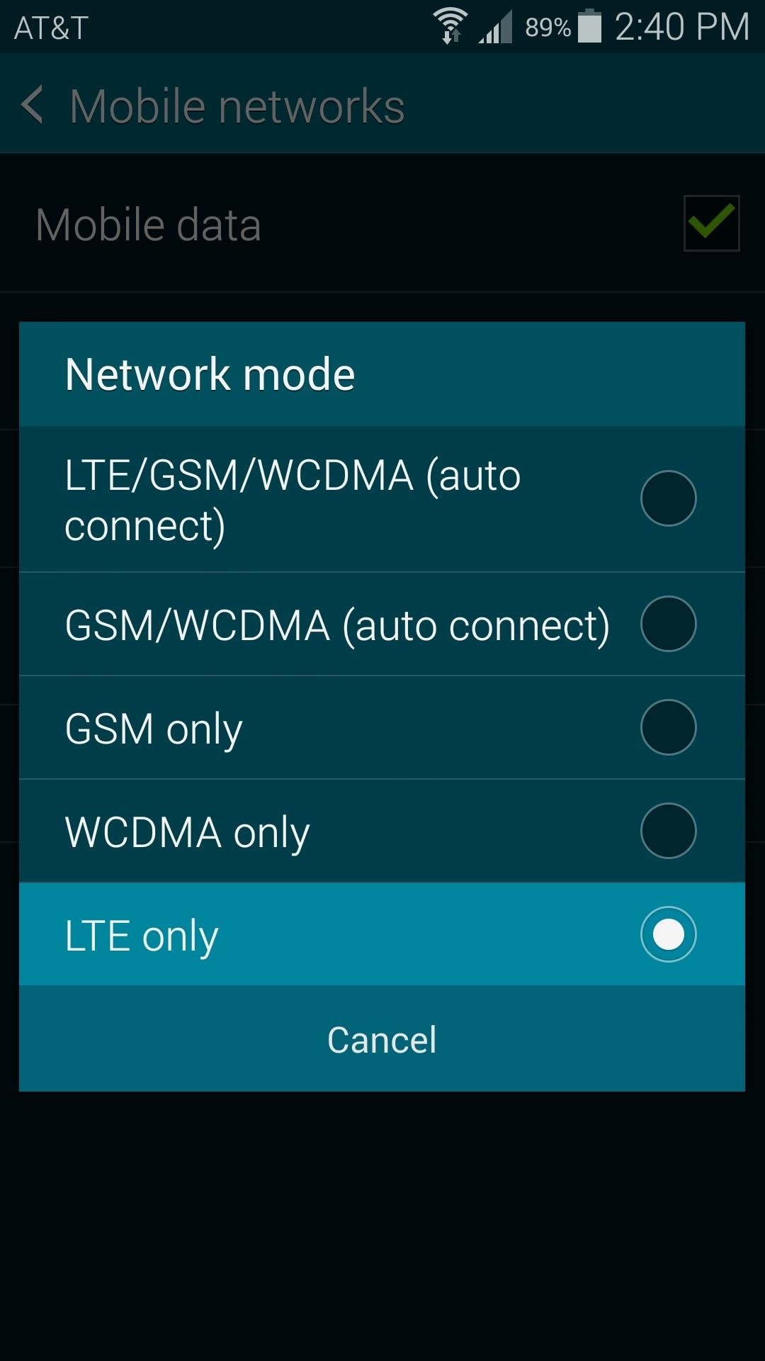 How to Force an LTE-Only Connection on Your Samsung Galaxy S5