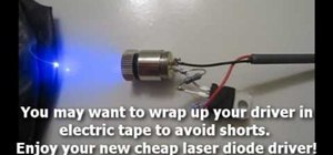 Make your own laser diode driver for less than three dollars