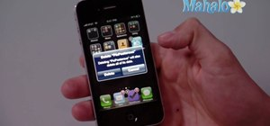 Delete an application on an Apple iPhone 4
