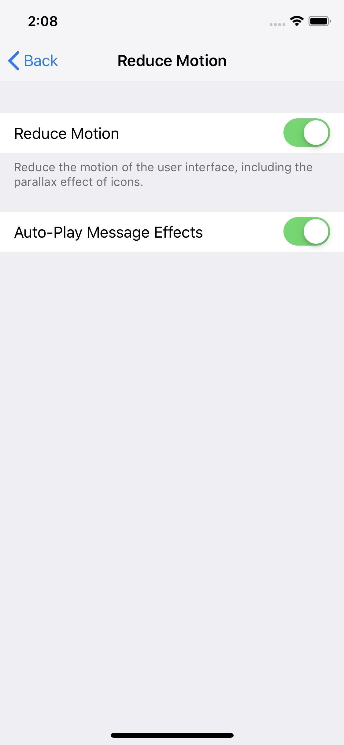 how to disable the parallax effect in ios to reduce motion on your