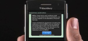 Set up a new or existing email account on a BlackBerry Bold 9650 smartphone