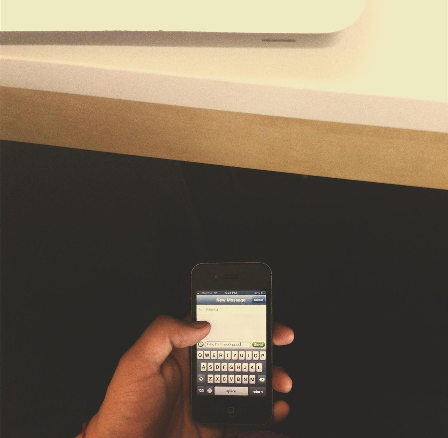 How to Secretly Send Text Messages in Class or at Work Without Touching Your iPhone