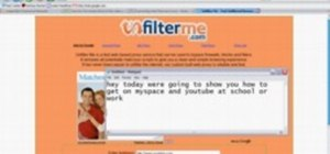 Use unfilterme.com to view MySpace at school or work