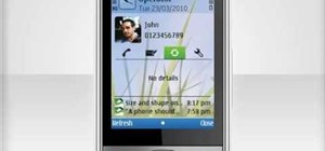 Customize the contacts bar on a Nokia C5 mobile phone