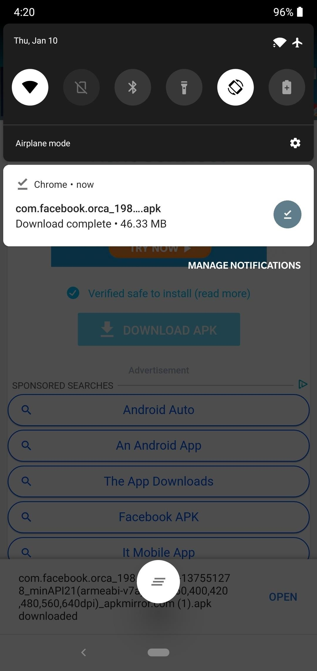 How to activate the hidden darkness in Facebook Messenger