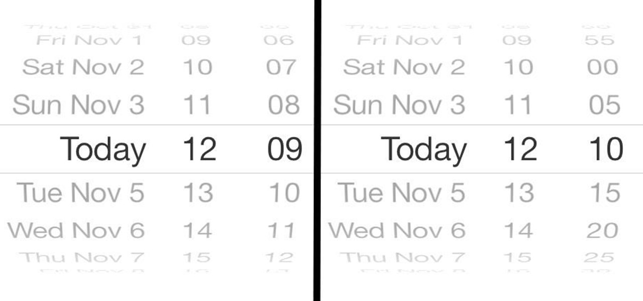 Increase Time Increments from 1 to 5 Minutes in the iOS 7 Calendar App