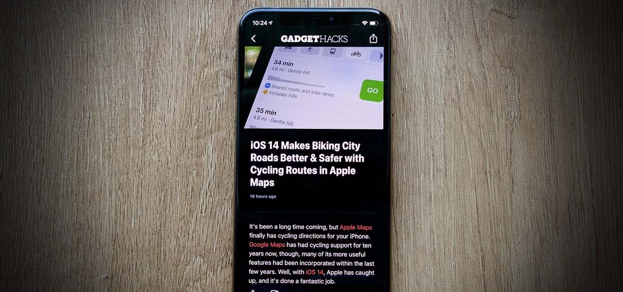 Force Dark Mode for News Stories in Apple News