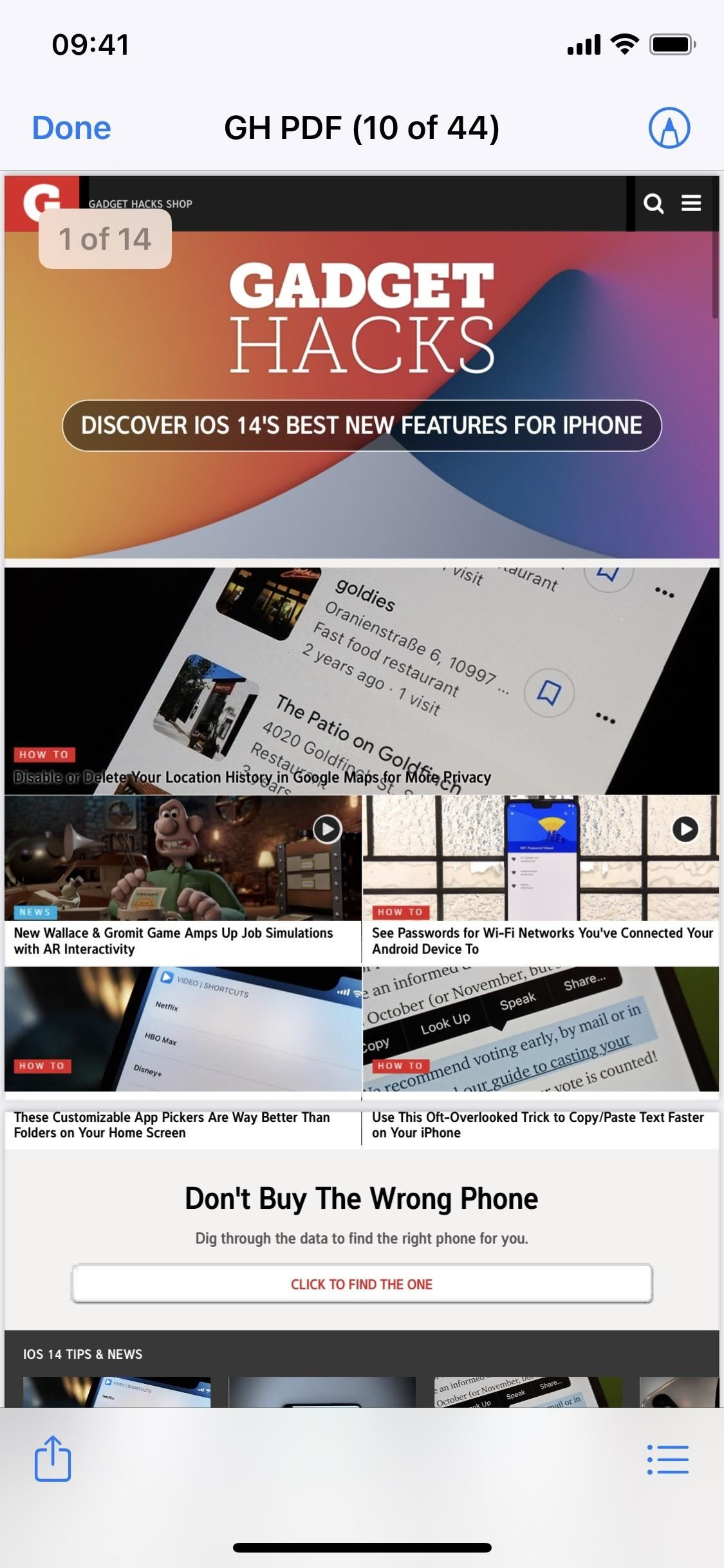 Improve Safari with a PDF Editor, URL Shortener, Bulk Image Saver & More Features on Your iPhone