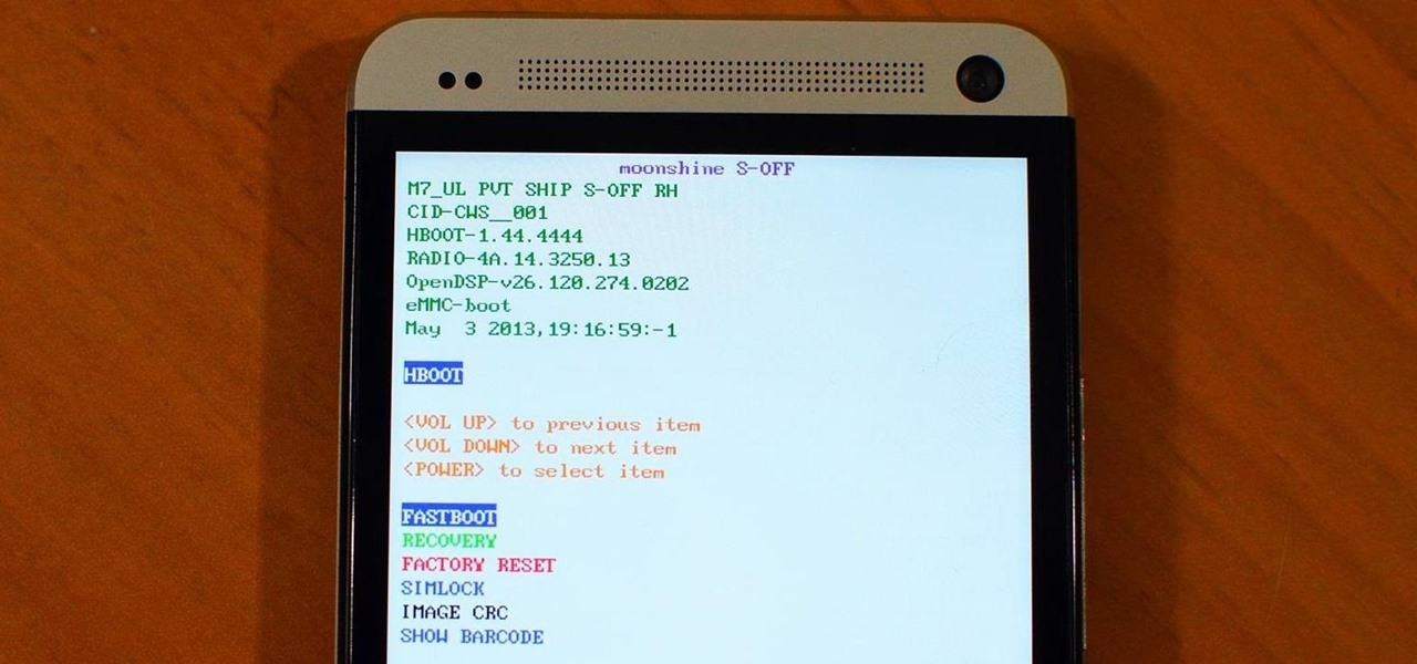 How to Set Your HTC One to S-OFF Using Moonshine on Windows « HTC