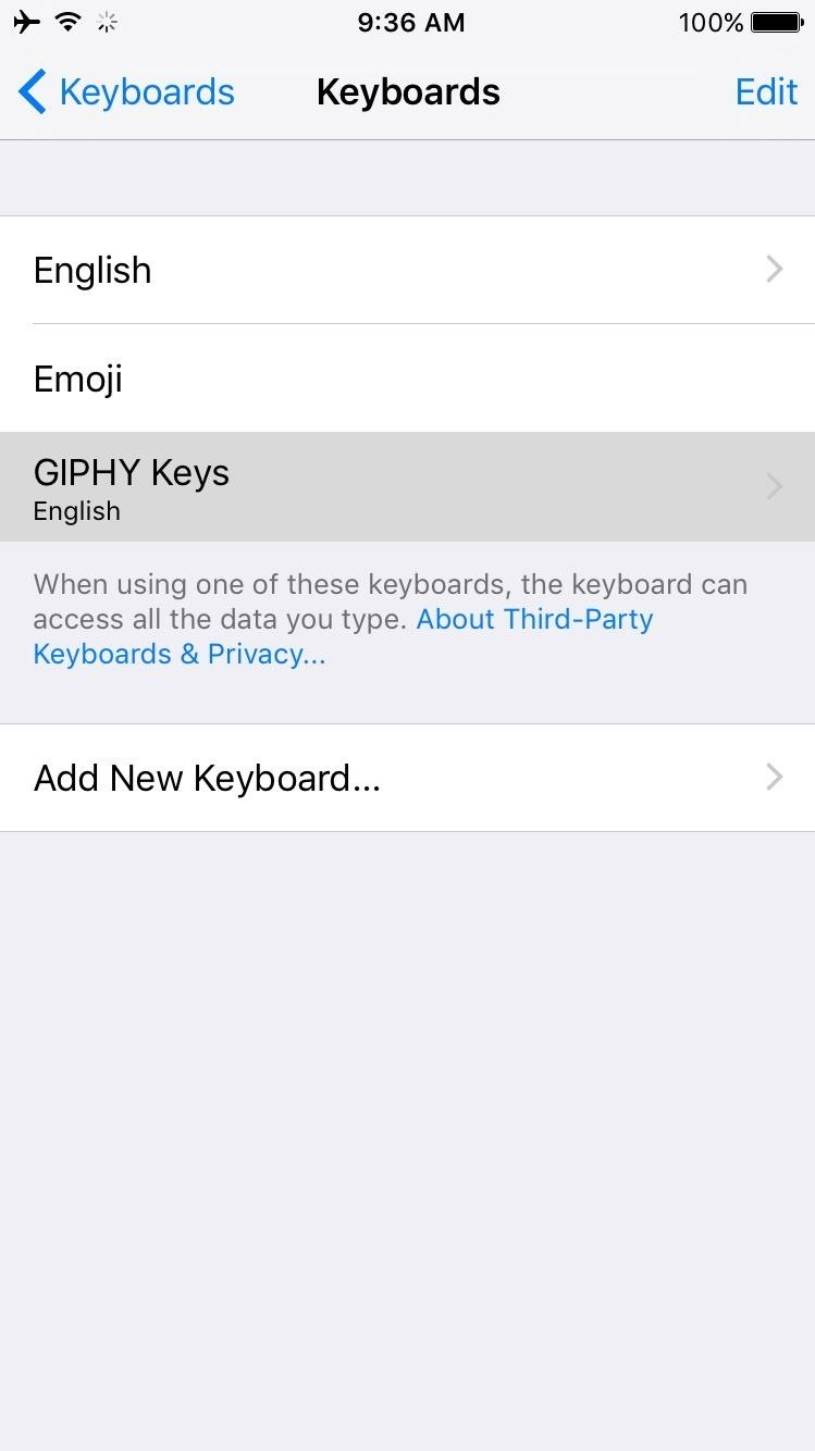 How to Message GIFs from Your iPhone's Keyboard Before iOS 10 Is Released