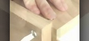 Install a cross dowel to adjoin wood for a CNC router