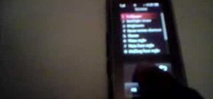 Calibrate the LG KF600 Venus mobile phone screen