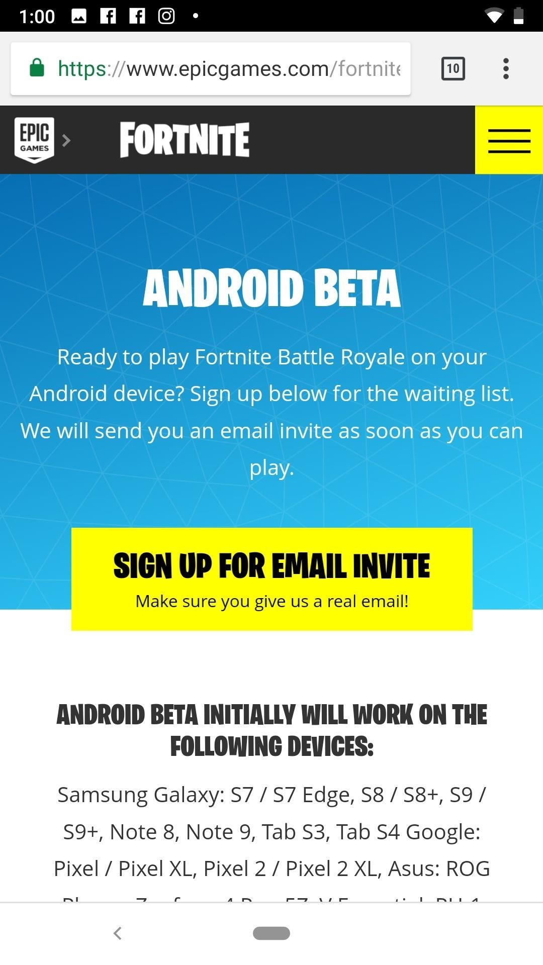 if you have a fortnite account already tap yes on the following page to sign in or tap no to create an account - lg fortnite download