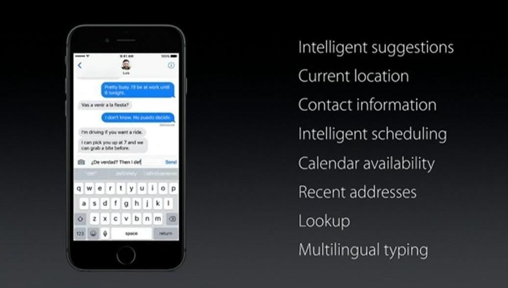 Siri's Going to Be Making the iPhone's Keyboard Smarter in iOS 10