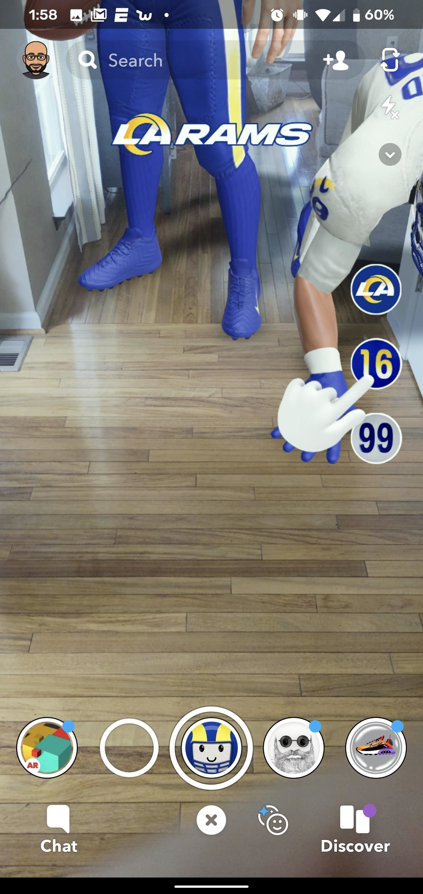 How to Try on the LA Rams' New Uniforms with Snapchat AR