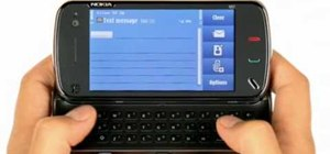 Send an SMS text message on a Nokia N97 smartphone