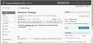"Change the default ""Hello World"" post on WordPress"