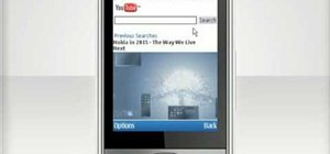 Watch a YouTube video on a Nokia C5 mobile phone