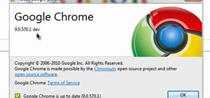 Activate Google Instant in the Chrome 9 browser