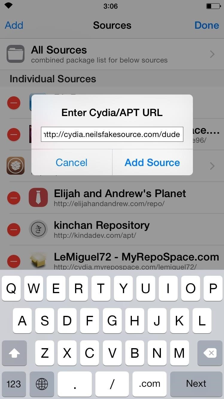 How to Add a New Source to Cydia on Your Jailbroken iOS Device « iOS