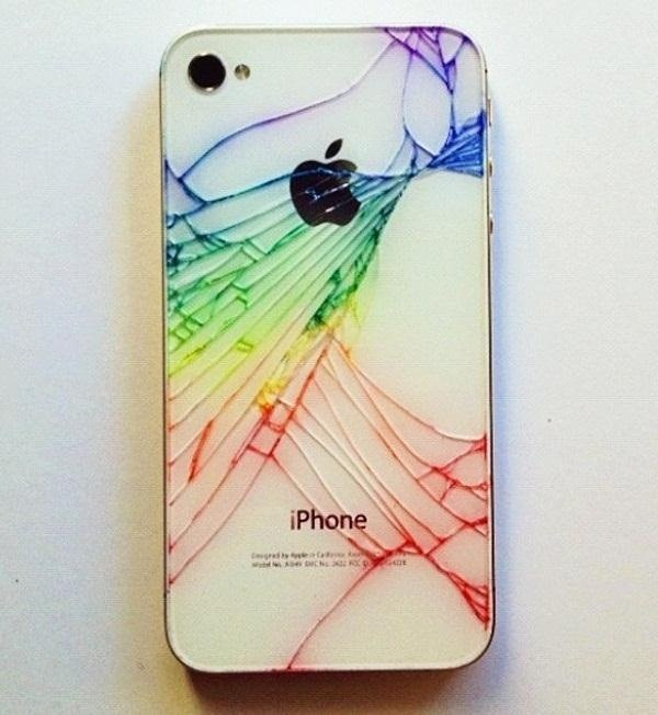 huge selection of 86513 287c0 iPhone Quick Tip: Add Color to Make Your Broken Rear Glass Panel ...