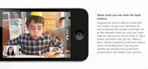 Use the FaceTime video chatting app on the iPhone 4G
