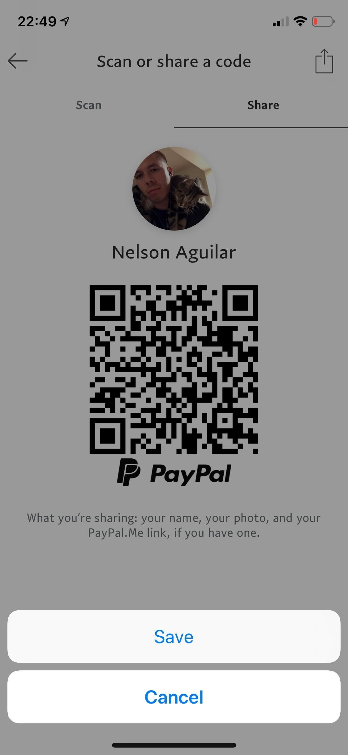 Sending and scanning PayPal QR codes for faster transactions when receiving or sending money