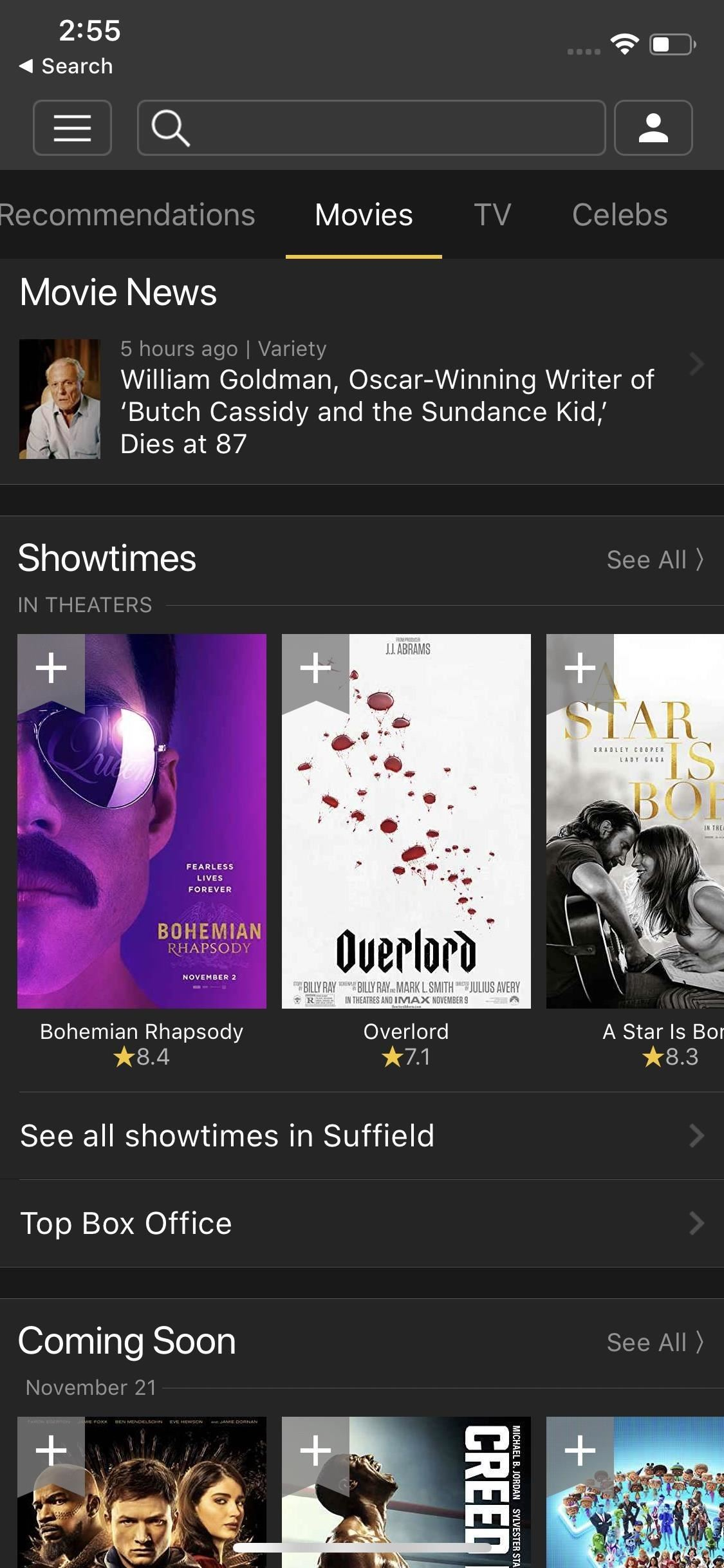 movie trailers apps for free