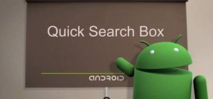 Use the quick search box on Android cell phones (1.6)